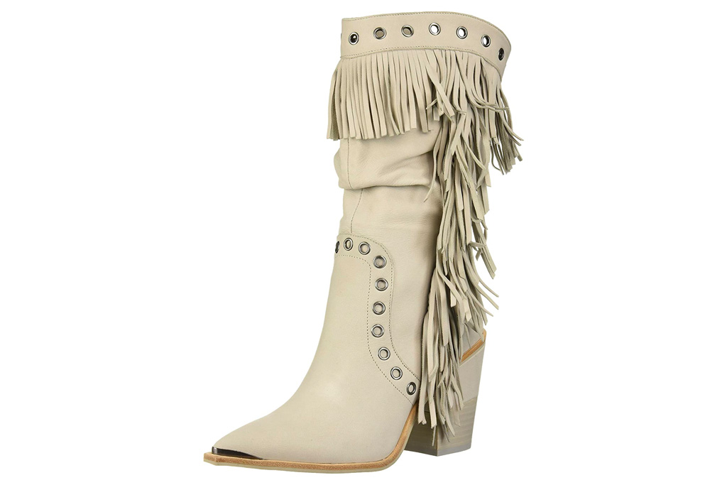 fringe boots, knee-high boots, kenneth cole
