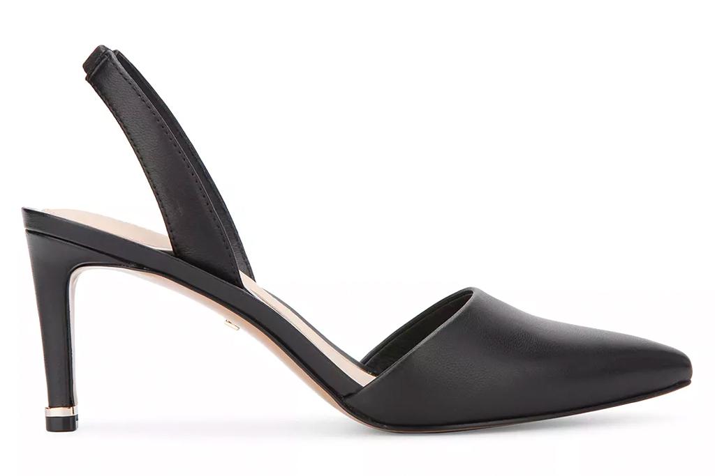 black heels, pumps, slingback, kenneth ccole
