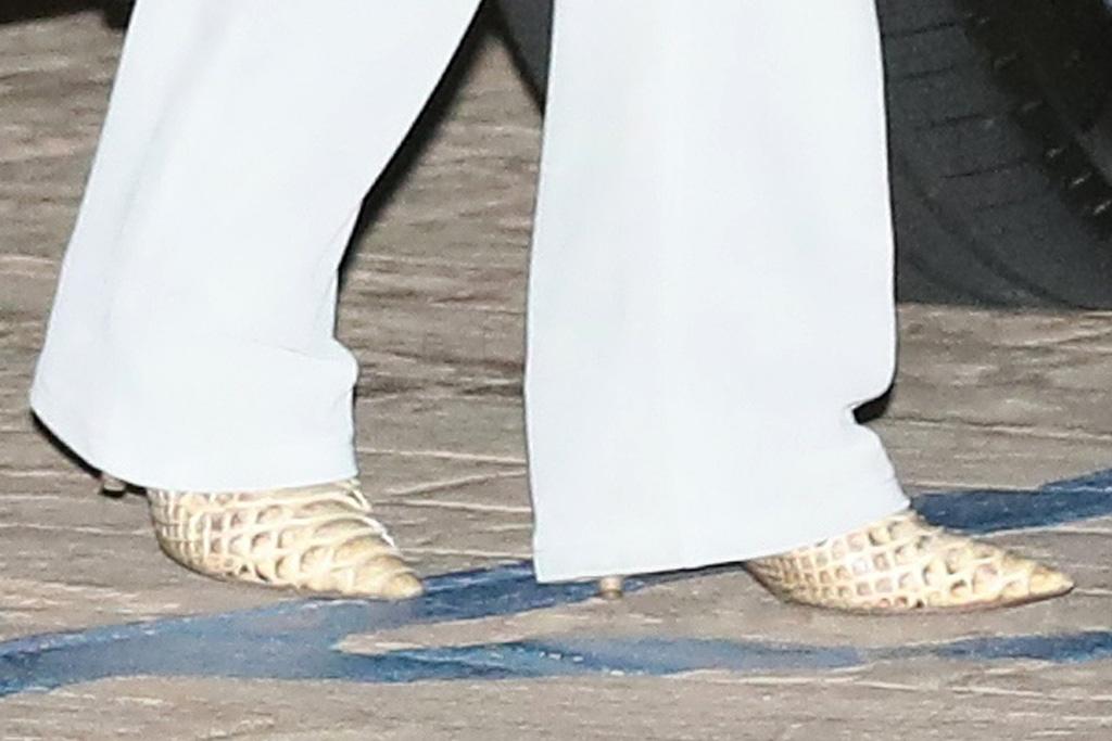 kourtney kardashian, jumpsuit, white pants, jacket, yeezy boots, snakeskin, mason disick, dinner, nobu, malibu