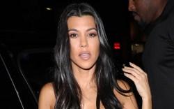 kourtney kardashian, bralette, shorts, skims, shirt