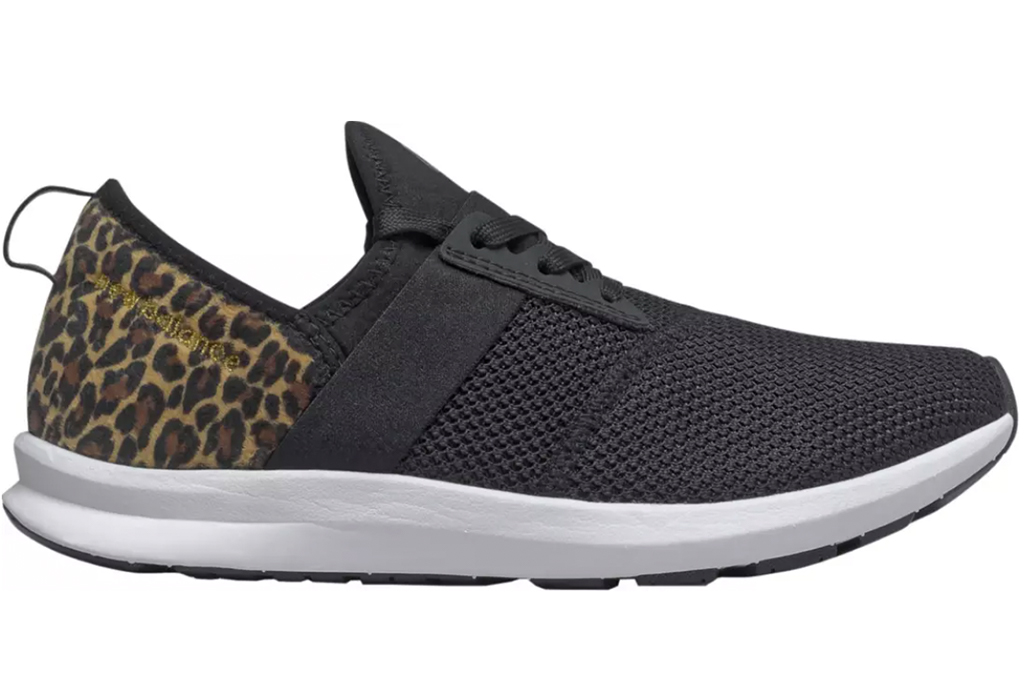 new balance leopard sneakers, black and leopard sneakers, new balance nergize sneakers