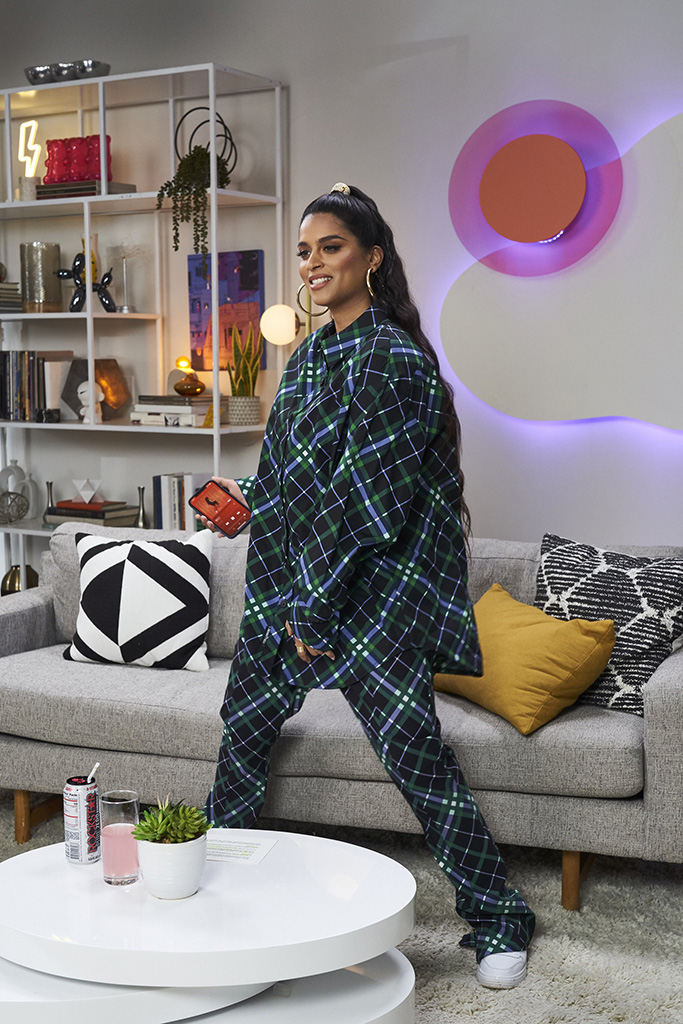 A LITTLE LATE WITH LILLY SINGH - Episode 97 -- Pictured: (l-r) Lilly Singh -- (Photo by: Matthew Misisco/NBC)