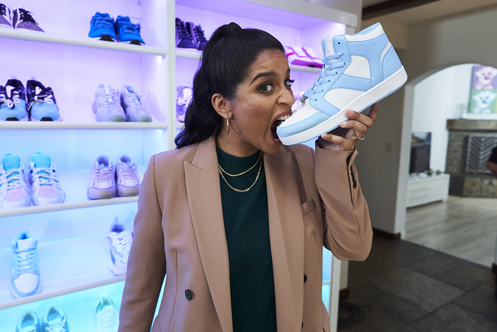 A LITTLE LATE WITH LILLY SINGH - Episode 97 -- Pictured: Lilly Singh -- (Photo by: Matthew Misisco/NBC)