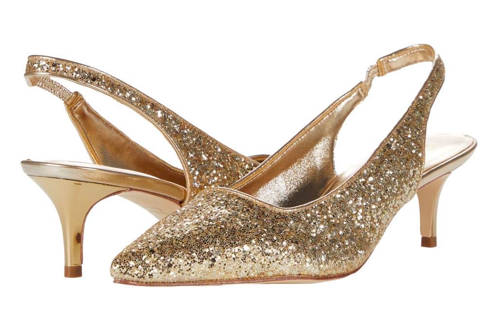 glitter heels, slingback, lily pulitzer
