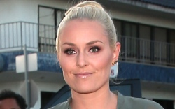 lindsey vonn, sneakers, catsuit, workout