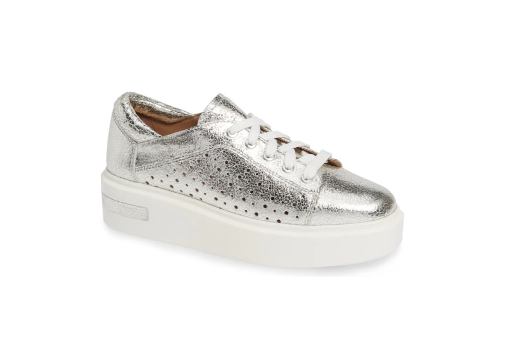 Linea Paolo Kendra Platform Sneaker, silver sneakers