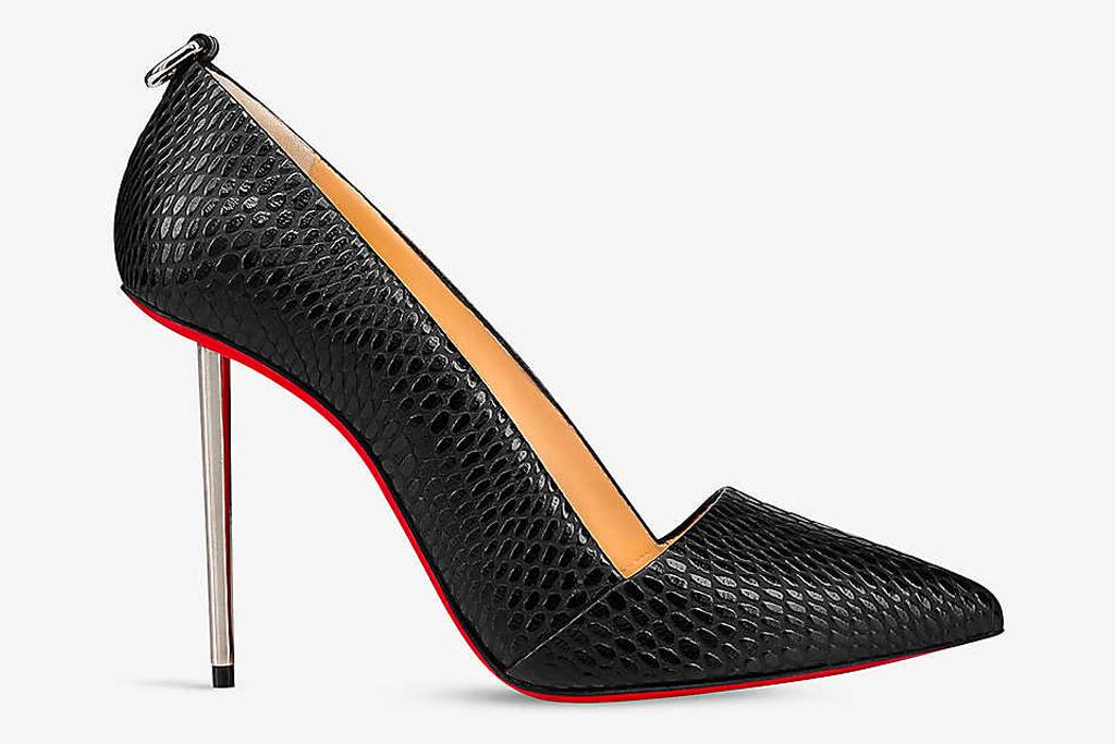 louboutin, pumps, heels, christian louboutin, metal