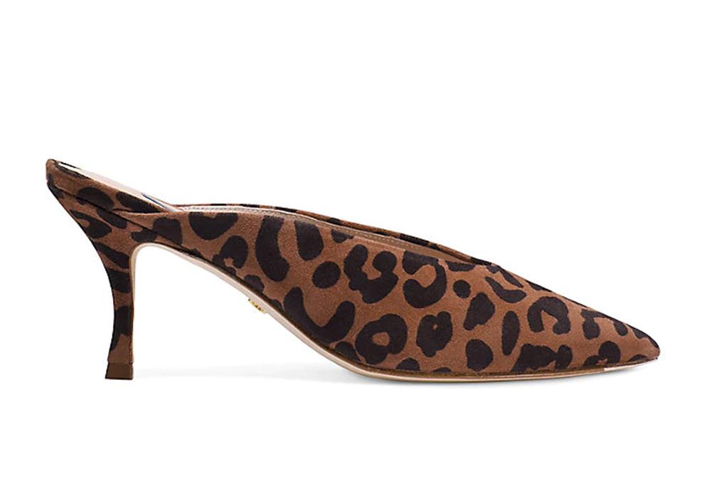 lulah mules, stuart weitzman shoes, leopard shoes