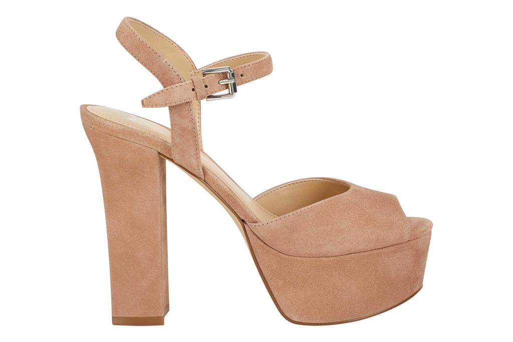 platform sandals, pink, heels, marc fisher