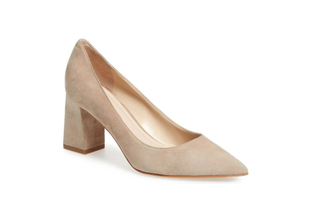 Marc Fisher LTD Zala Block Heel Pump, beige heels