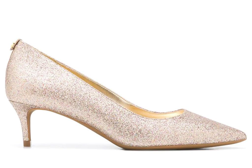 glittering heels, pumps, michael kors