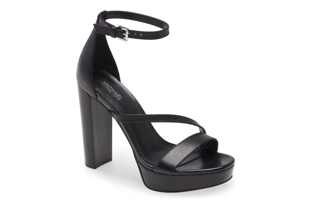 Michael by Michael Kors Tanner Platform Sandal, Black Heels
