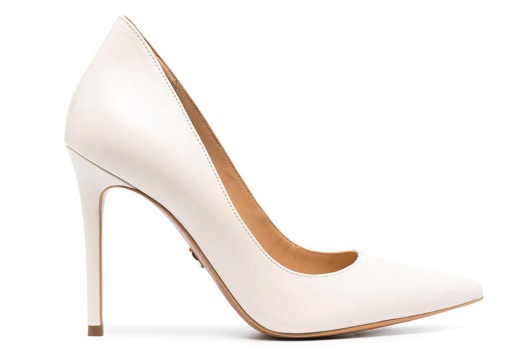 white heels, pumps, michael kors