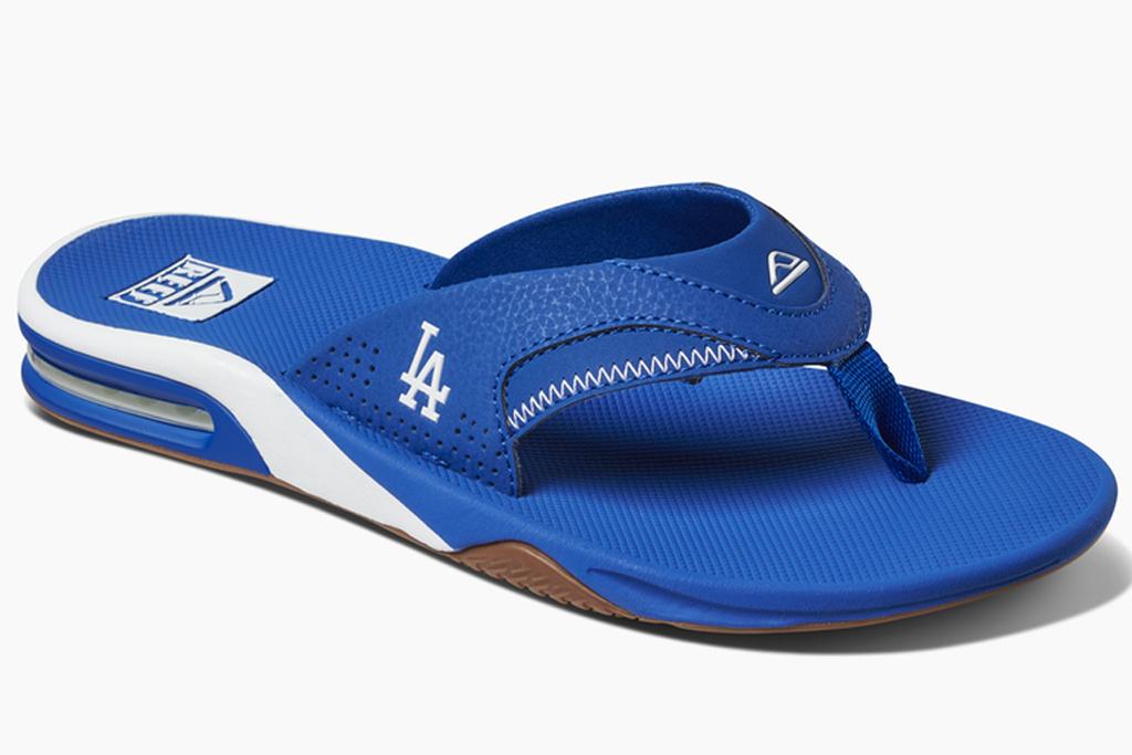 mlb, reef, sandals, flip flops