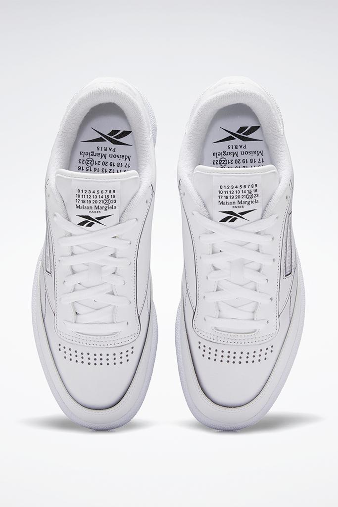 maison margiela x reebok, club c maison margiela, white sneaker