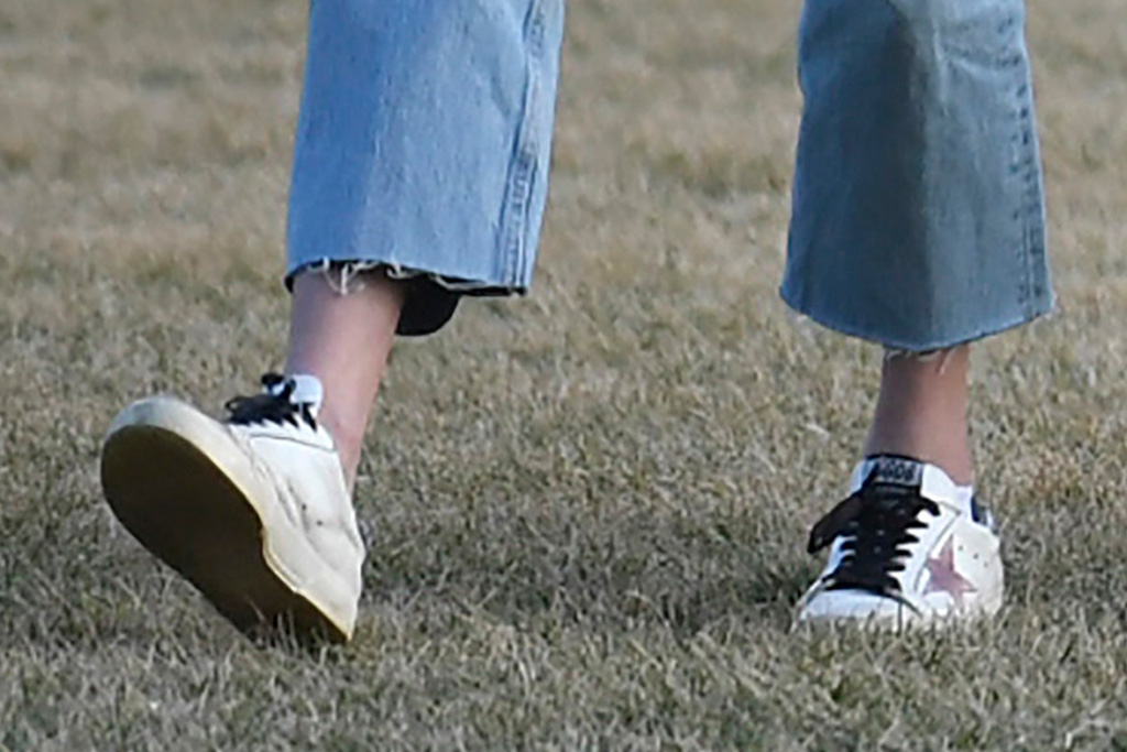 natalie biden, jeans, sneakers, sweater, white house, jill biden, joe biden, hunter biden, grandparents, granddaughter