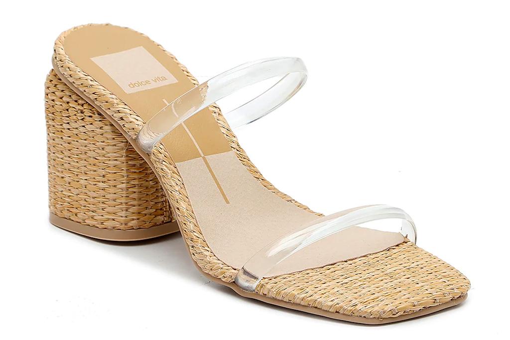 clear sandals, heels, natie