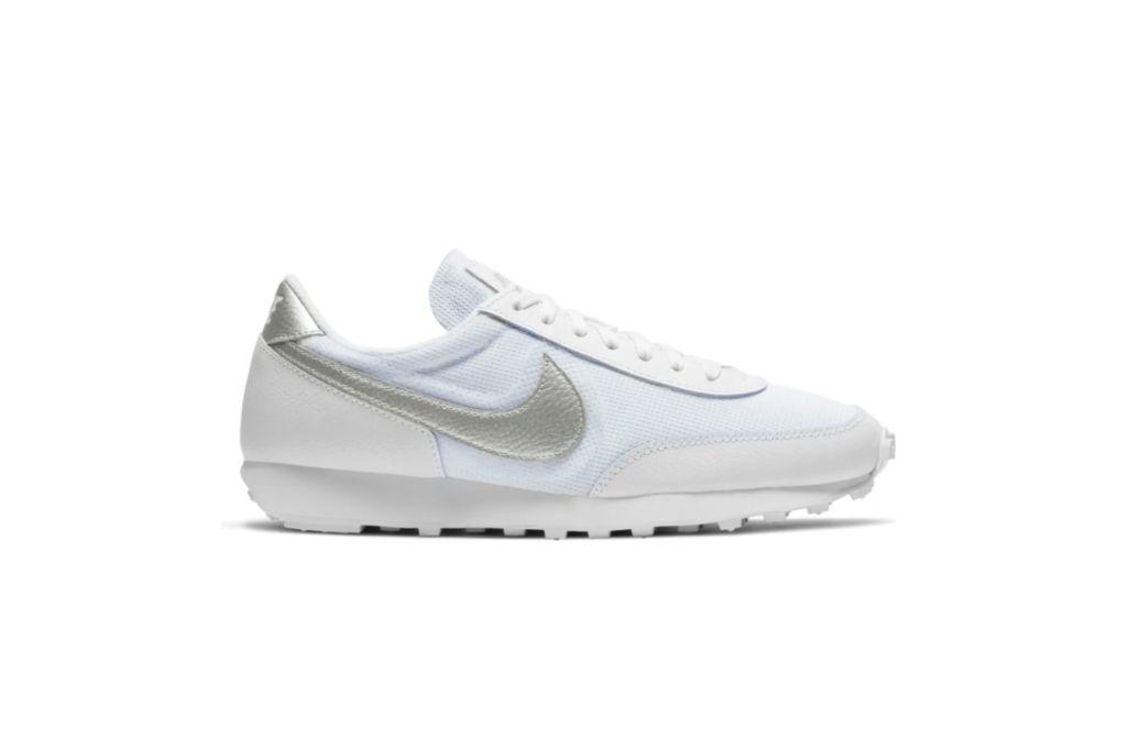 nike daybreak sneaker, silver sneakers