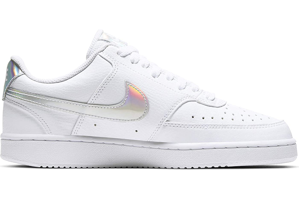 nike, iridscient sneakers, court low