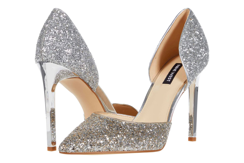 glittering heels, pumps, nine west