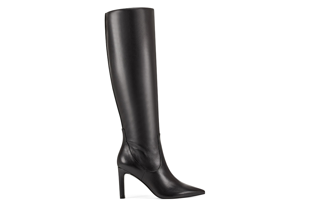 nine west boot, heeled black boot, tall boot