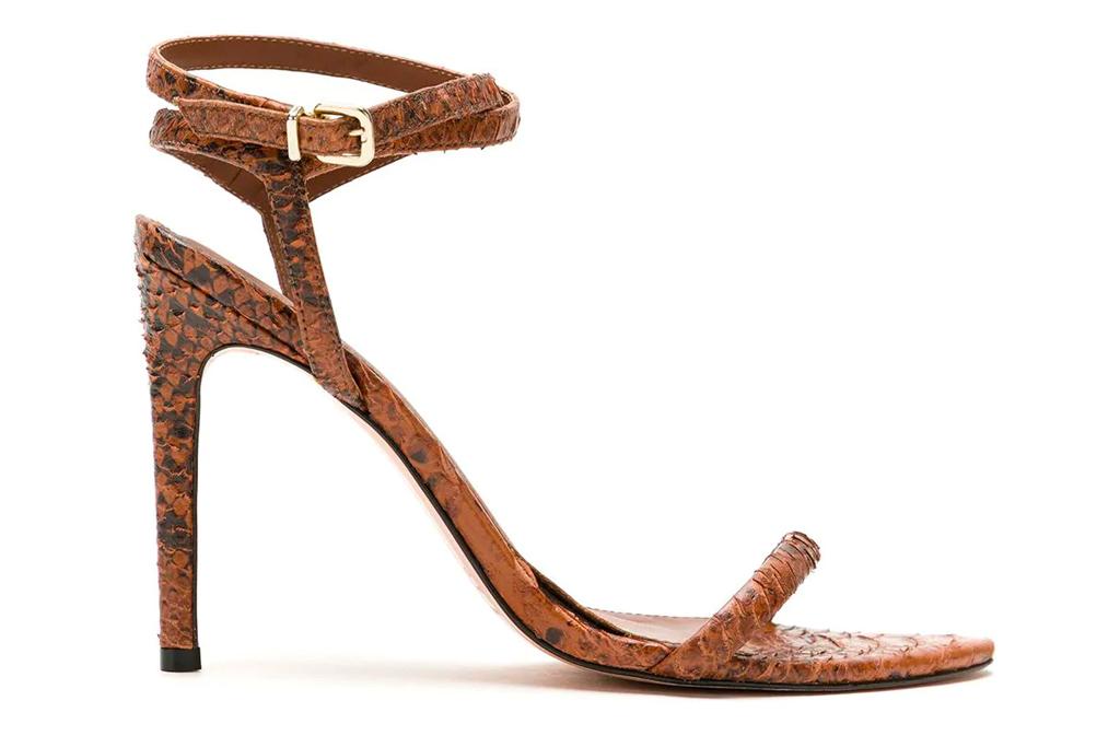 brown sandals, heels, nk