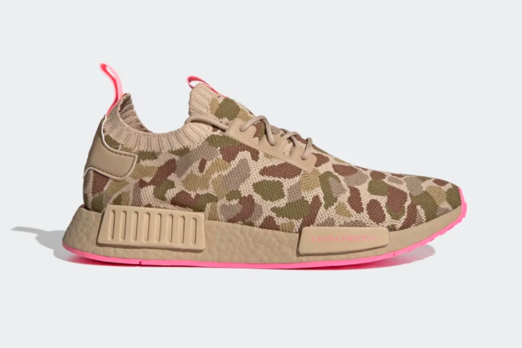 NMD R1 Primekit Shoes in Pale Nude/Hyper Pop