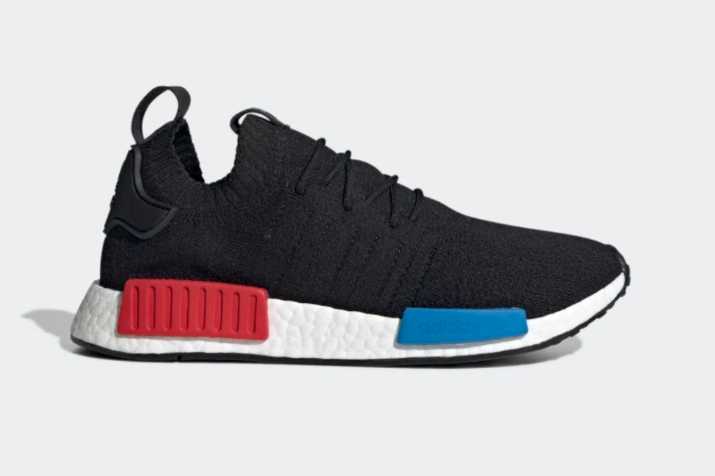 NMD R1 Primeknit shoes in Core Black
