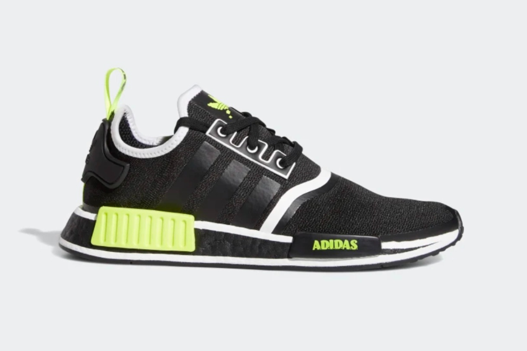 NMD R1 Shoes in Core Black/Solar Yellow/Cloud White