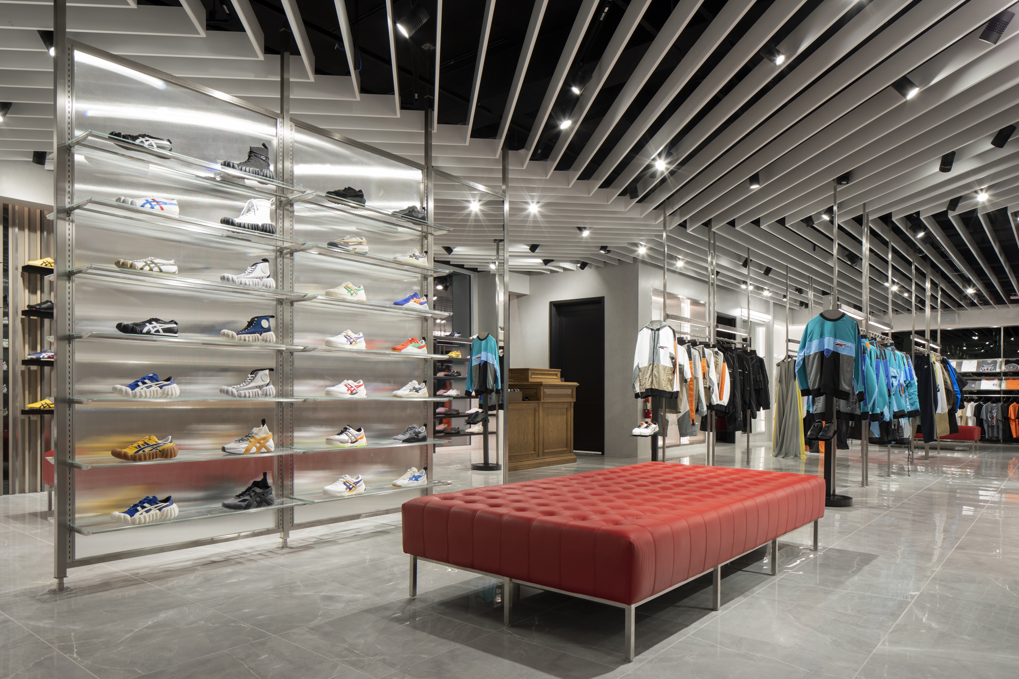 Inside the Onitsuka Tiger store in Beverly Hills, Calif.