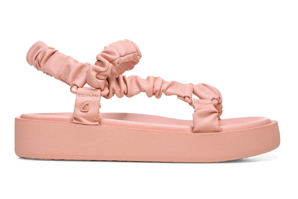 sam edelman sandal, pink platform sandal, pink shoes