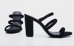 PrettyLittleThing, Black Mule Block Heel, Sale