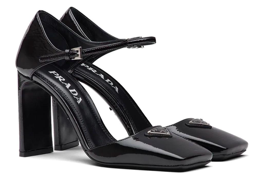 prada, heels, black