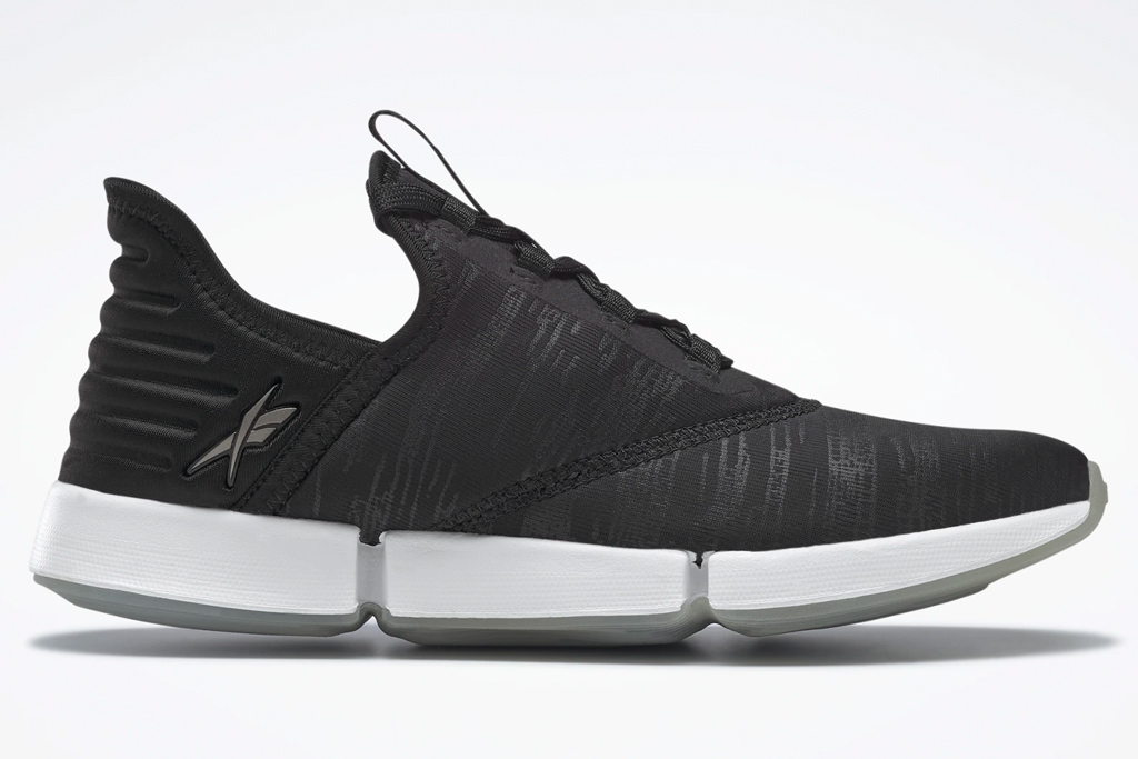 black sneakers, white, reebok