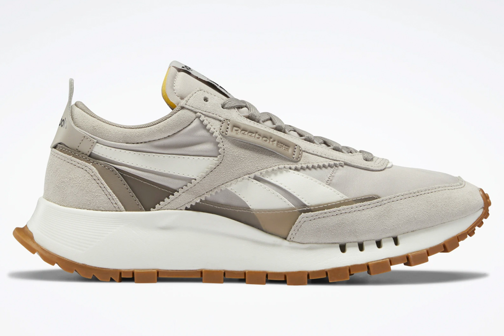sneakers, gray, reebok