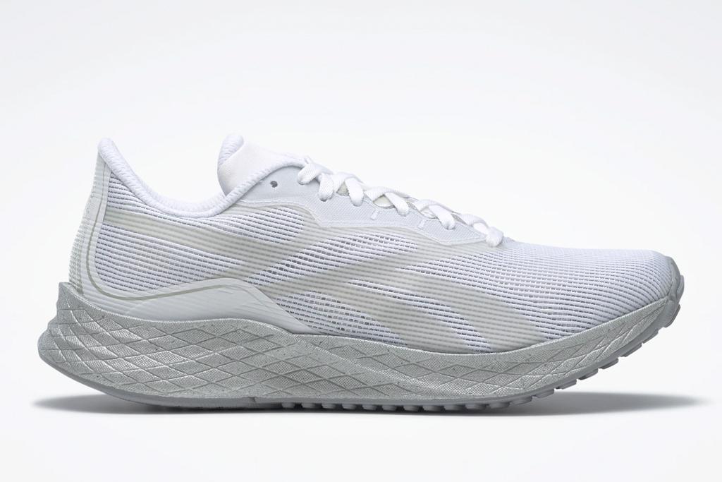 white sneakers, running shoes, women, reebok