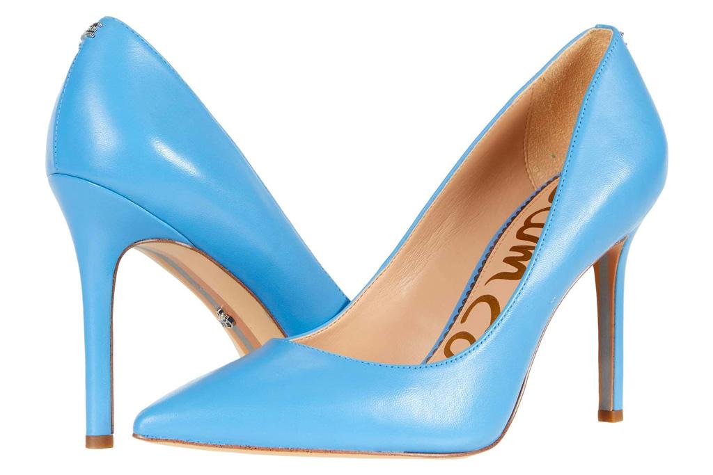blue heels, pumps, sam edelman