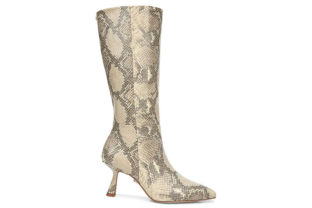 snakeskin boots, sam edelman