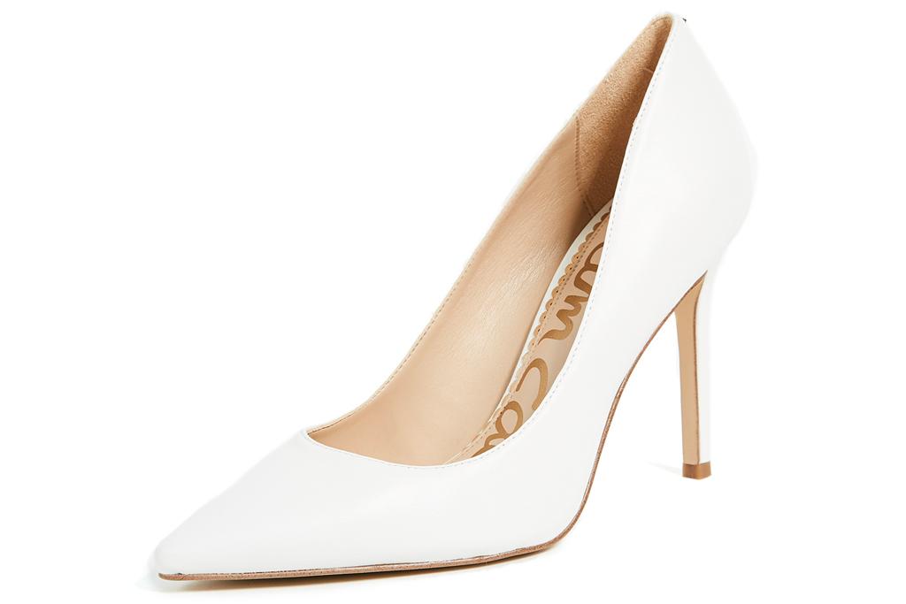 white heels, pumps, sam edelman
