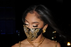 Saweetie Is Edgy in a Mesh Banage Dress & Towering Stilettos for Dolce & Gabbana