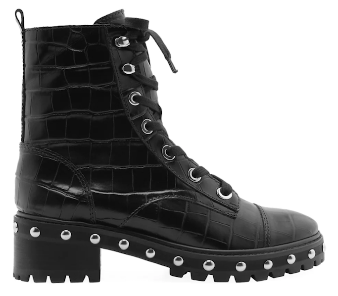 schutz andrea combat boot, saks friends and family sale