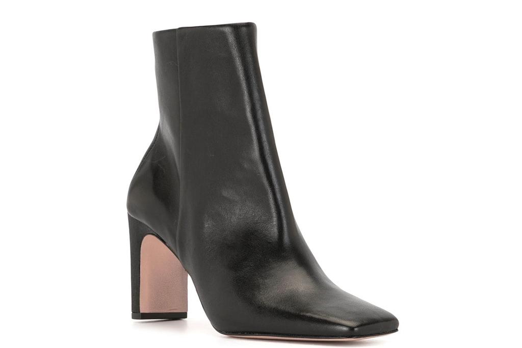 black boots, square toe, schutz
