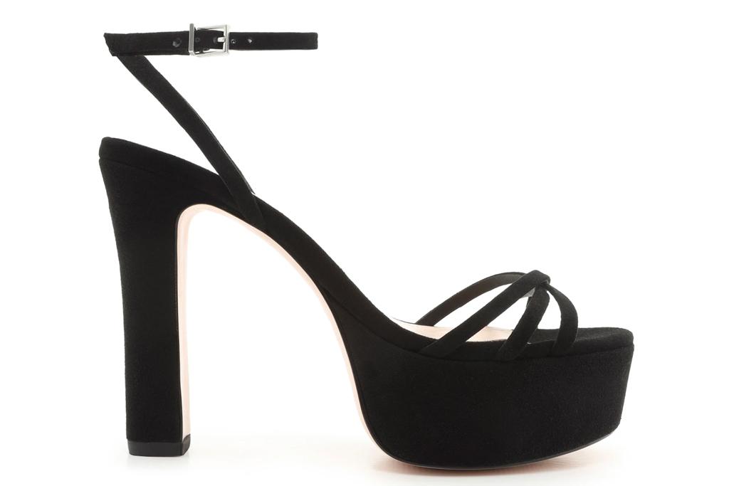 black sandals, platform, schutz