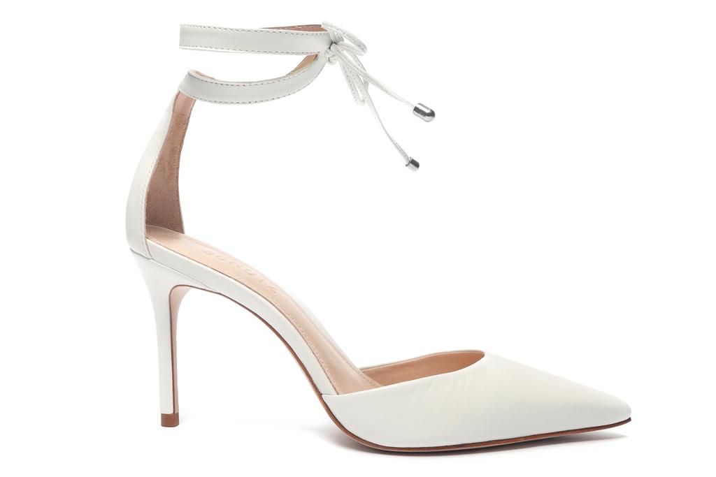 white heels, pumps, ankle wrap, schutz