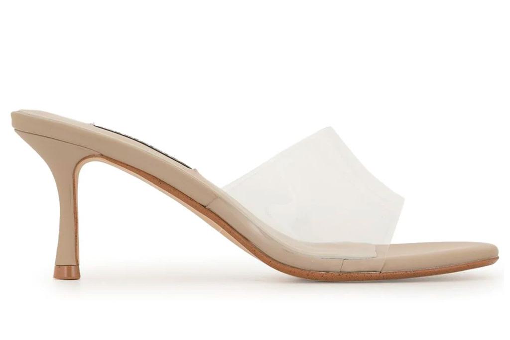 clear sandals, heels, senso