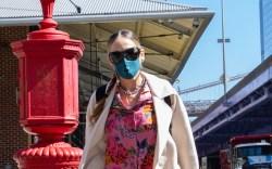 Sarah Jessica Parker, coat, floral top,