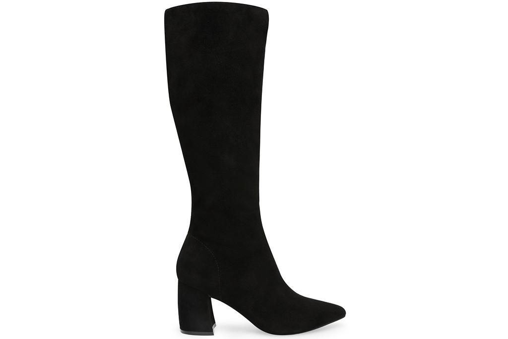 steve madden boot, tall black boot, knee-high boot