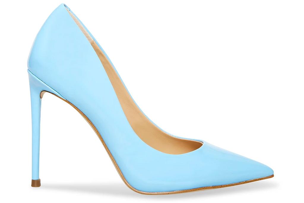 blue heels, pumps, steve madde