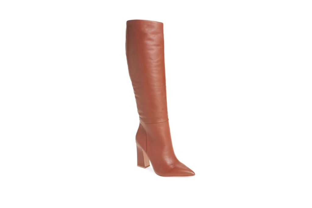 steve madden showbiz pointed toe knee high boot