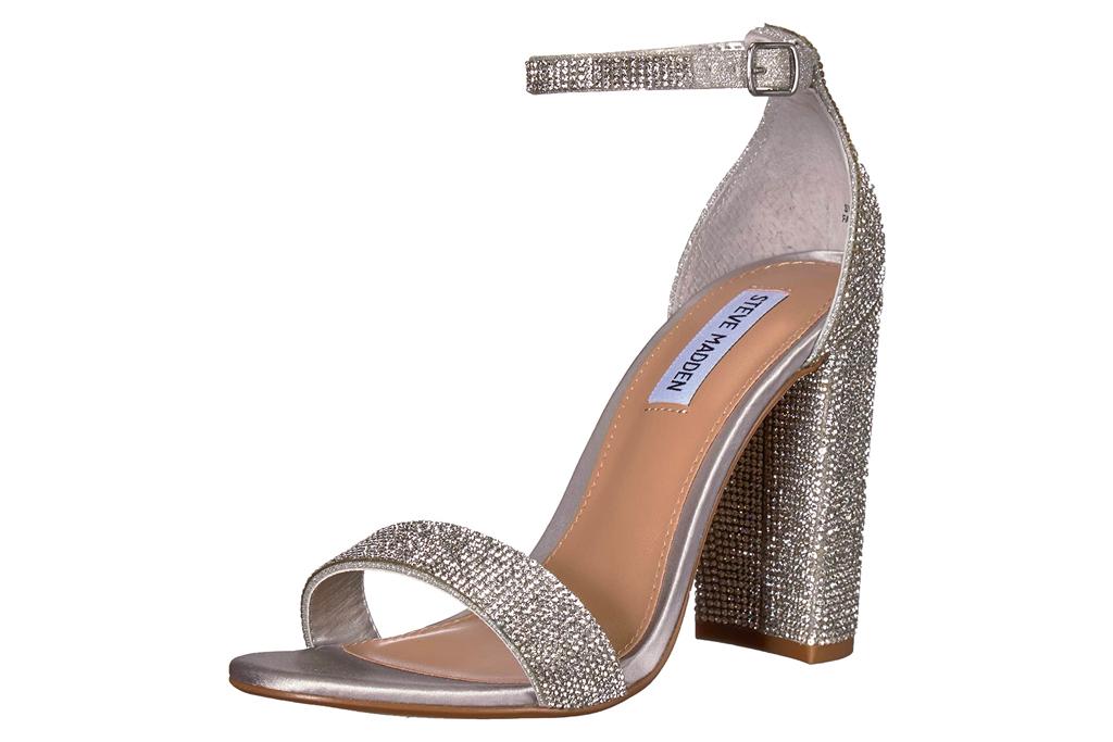 sandals, glittering, heels, steve madden